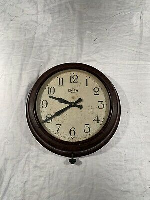 """VINTAGE Smiths 8 DAY Bakelite 11.5"""" inch (INDUSTRIAL FACTORY OFFICE WALL CLOCK)"""