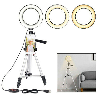 LED Selfie Beauty Ring Light Tripod For Phone Live Streaming Video Makeup