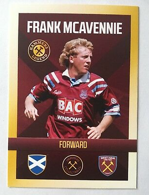 Frank Mcavennie Hammers Legend Collectables Trading Card West Ham United COYI