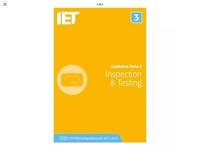 IET Guidance Note 3: Inspection and Testing | 18th Edition