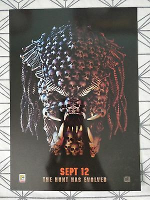 Predator Poster *Official Glossy Art Print A4 ODEON COMIC CON* (2018) Brand New