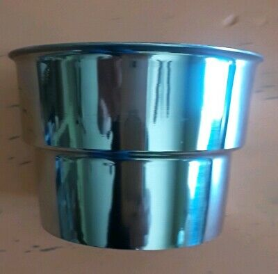 """Libertyware SMC3 Stainless Steel 3-1/2"""" Malt Collar Top of Cup - Fast Ship"""