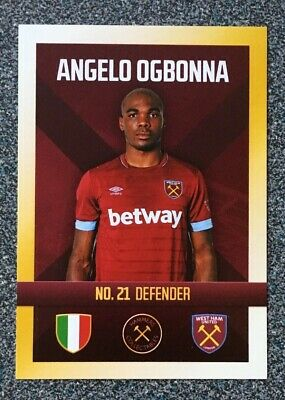 #346-WEST HAM UNITED-ANGELO OGBONNA TOPPS MATCH ATTAX 2017-18