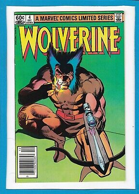Wolverine Limited Series #4_December 1982_Vf/nm_Classic Frank Miller_Bronze Age!