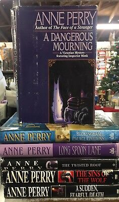 Lot Of 6 Anne Perry Book Club Edition Hard Covers
