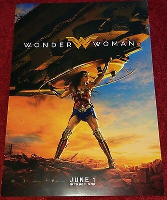 Official Wonder Woman Cinema Movie Poster Gal Gadot (posted rolled a tube)