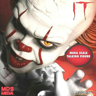 "Pennywise It Giant 15"" Talking Clown Movie Doll Scary Horror Mezco It Movie Mega"