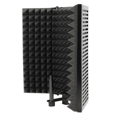 Folding Studio Microphone Isolation Shield Sound Absorber Foam Panel w/Stand