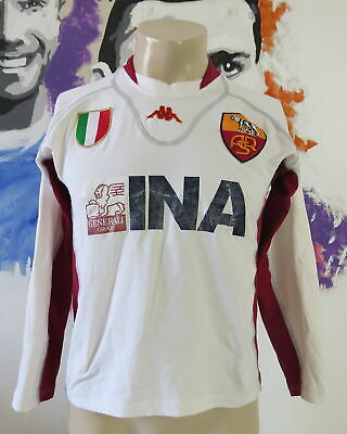 AS Roma 2001-02 l/s away shirt Kappa soccer jersey size S tight fitting