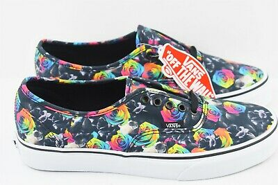 424deac6e1 Vans Authentic Mens Size 8 Rainbow Floral Womens Size 9.5 Multicolor Skate  Shoes