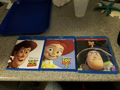 Toy Story Trilogy 1, 2, & 3 Blu Ray (Toy Story 3 comes with a bonus 2nd disc)