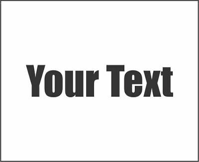 YOUR TEXT Vinyl Decal Sticker Car Window Custom Name Personalized Lettering JDM
