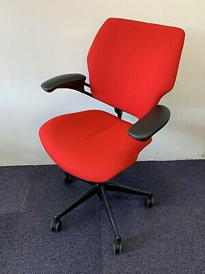 Humanscale Freedom Med Back Chair New Red fabric