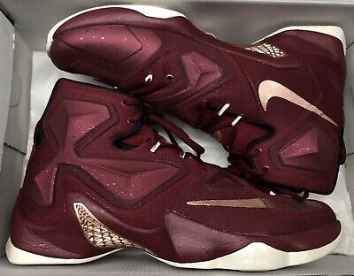 new style be483 7ee0a Nike Lebron XIII 13 Team Red Metallic Bronze Sail Cleveland Cavs 807219-690  z 11
