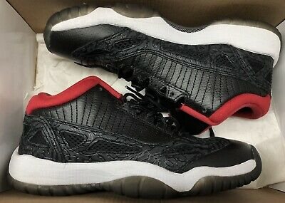 1b662731cf40 NIKE AIR JORDAN 11 XI Retro Low GS Black Varsity Red BRED 306006 001 ...