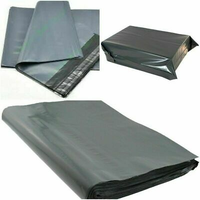 """100 Bags - 15"""" X 18"""" Strong Poly Mailing Postage Postal Quality Self Seal Grey"""