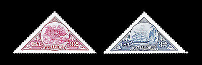 1997 Scott #3130-31 .32¢ Pacific 97 Stamp Exhibition, 1 Pair - XF MNH. FREE SHIP