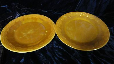 """Anchor Hocking Fire King Peach Luster Copper Tint 9"""" Dinner Plate Leaf Design"""
