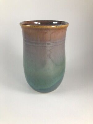 Signed Studio Pottery Tumbler Cup Drinking Glass