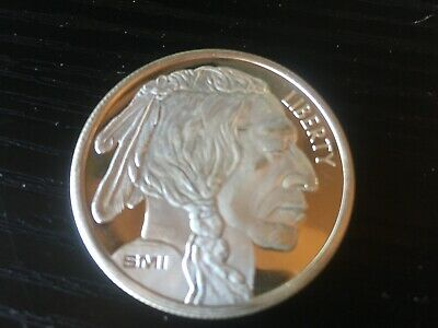 SMI Liberty 1 Troy Ounce Fine Silver oz .999 Buffalo Indian Head Coin Bullion