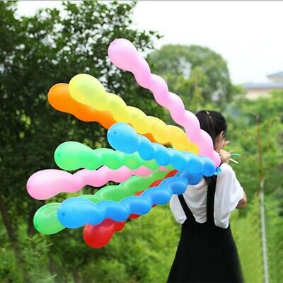 10/100pcs Long Latex Screw Spiral Twist Party Wedding Balloons Decoration