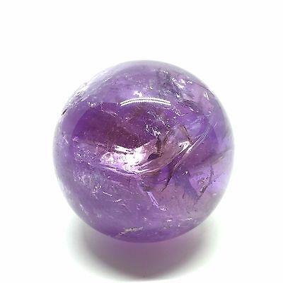 Purple Amethyst Polished Crystal Sphere 4.5 cm 1.8 inch Diameter PE-0023