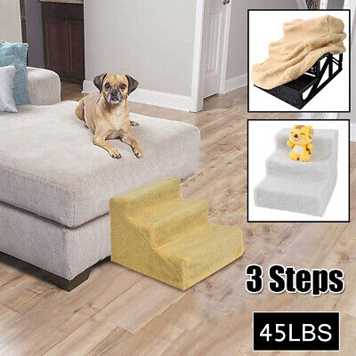 Portable Home Travel Dog Stairs for Bed Couch Cat Pet 3 Step Ramp Small Ladder