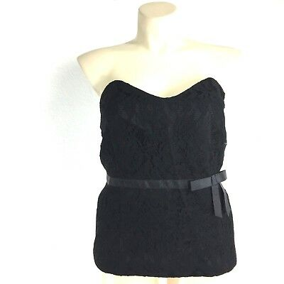 4953ea8b0 NEW Lane Bryant Plus 22 Black Lace Corset Top Strapless Sweetheart Sexy  Date NWT