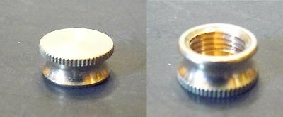 """2 Solid Brass Pipe / Bracket Caps 1/8""""IPS (3/8"""" Dia.) Knurled Lamp / Clock (BC1)"""