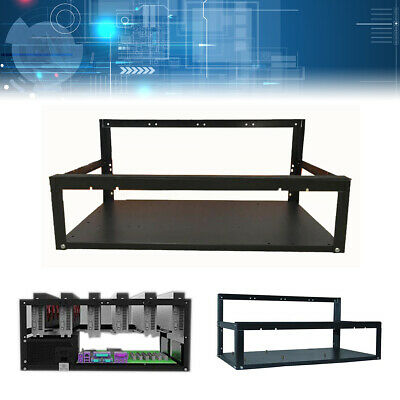 6 GPU Coin Open Air Mining Rig Stackable Frame Case Miner for BTC LTC ETH UK