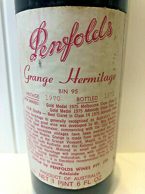 PENFOLDS GRANGE 1970 VINTAGE. **BUY NOW FOR A 50th BIRTHDAY PRESENT IN 2020**