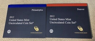 2012 Uncirculated Mint Set U12  Denver & Philadelphia Minted Sets  28 Coins