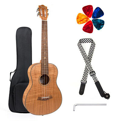 Baritone Ukulele 30 inch Classical Guitar Okoume DGBE String with Bag for Gifts