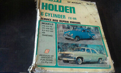 Holden 6cyl FX-HR 1948-68 Gregorys Workshop Manual #67 service repair