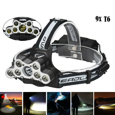 50000LM LED Rechargeable Headlight Headlamp Torch Flashlight Camping Light