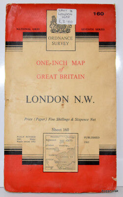 Ordnance Survey Map of LONDON NW Number 160