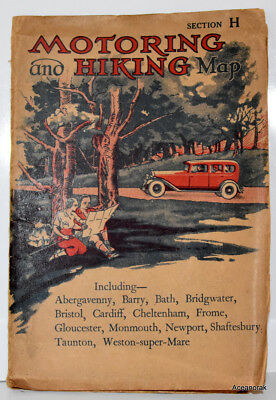 Motoring & Hiking Map Section H 1930's