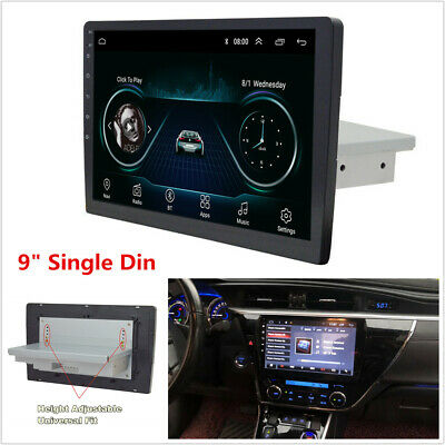 "9"" Single Din Android 8.1 Car Stereo Radio GPS Navigation WiFi Quad-Core 1G+16G"