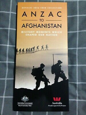 2016 ANZAC to Afghanistan complete coin set in Folder 1/2 price