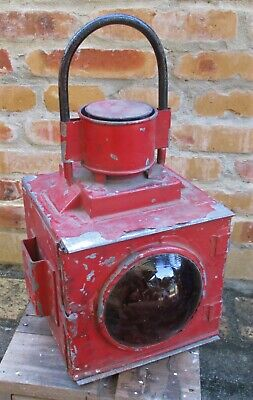 Queensland Railways Guards Van Side Lamp Tail Lantern - Good complete condition