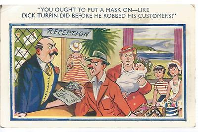 Vintage Comedy postcard you ought to put a mask on my ref 478