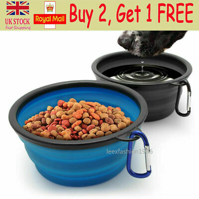 Pet Dog Travel Bowl Portable Water Bottle Puppy Foldable Collapsible Dish Feeder