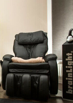 BRAINLIGHT Gravity PLUS Shiatsu Massagesessel & Relax Tower XLTC schwarz Bj 2016