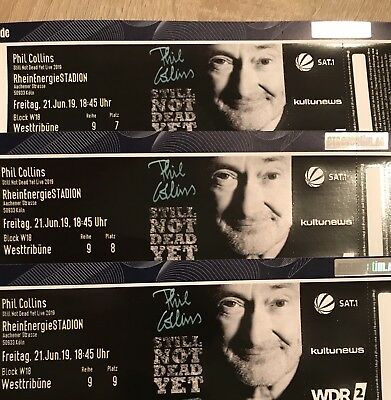 3 Tickets Phil Collins Köln 21.06.2019