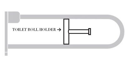 Joblot 2 X Armitage Shanks Contour 21 Toilet Roll Holder For Hinged Support