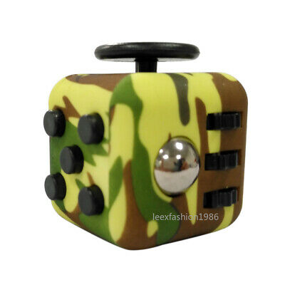 Anti Stress Fidget Cubes Desk Toy Kids Adults Anxiety Reliever ADHD Relief A2