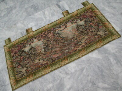 4996 - Old French / Belgium Tapestry Wall Hanging - 200 x 89 cm