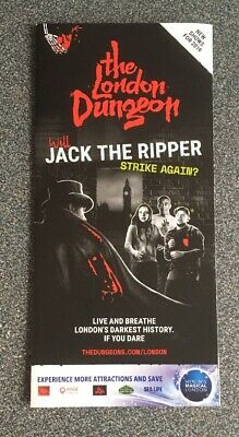 The London Dungeon Fold Out Map & Flyer 2019 - Jack The Ripper Edition + German