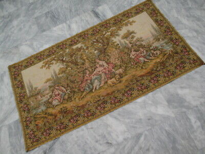 5021 - Old French / Belgium Tapestry Wall Hanging - 95 x 180 cm