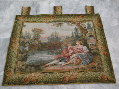 5011 - Old French / Belgium Tapestry Wall Hanging - 84 x 110 cm